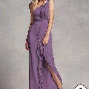 Vera Wang Long One Shoulder Bridesmaid Dress